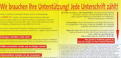 "Initiative ""Lidl an den Ortsrand"""